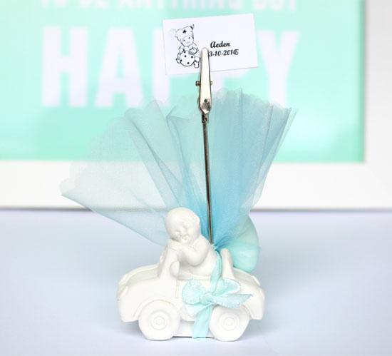 Baby in Auto Fotohouder Jongen Compleet