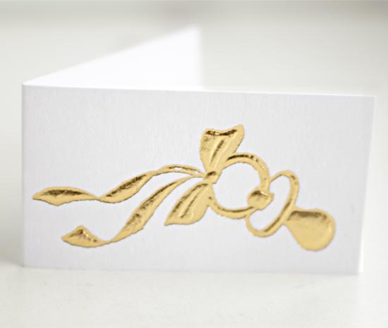 Bedankkaartje Gouden Speentje per 12 stuk