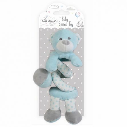 Spiraal Baby Knuffel Blauw
