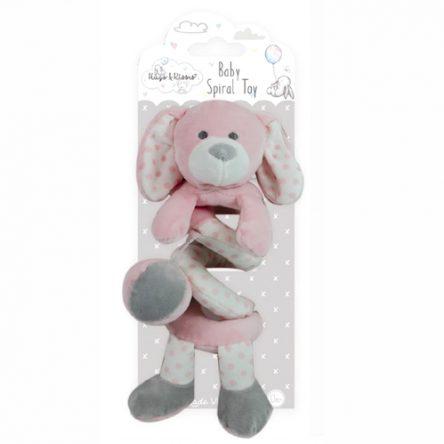 Spiraal Baby Knuffel Roze