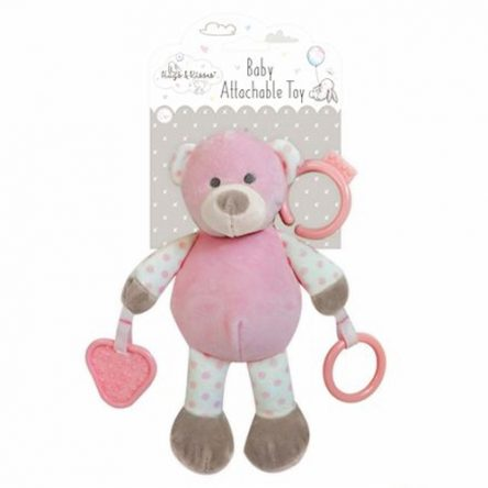Koppelbaar Baby Knuffel Roze